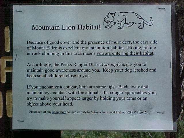 US Forest Service Sign.